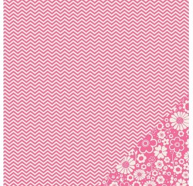 Papier double 30x30 - Pebbles - Chevron Fushia